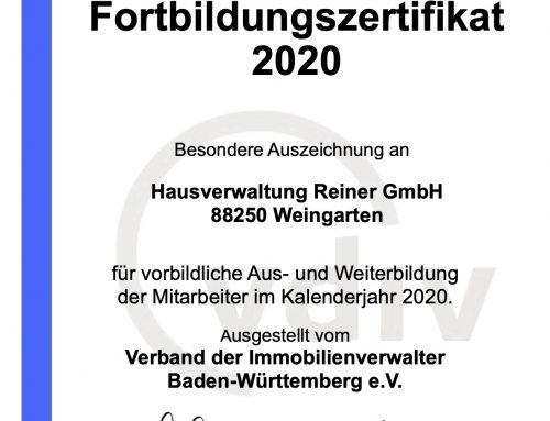 Fortbildung Hausverwaltung Reiner GmbH