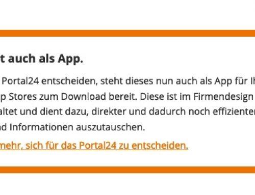 Portal 24 als App